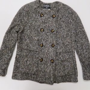 Chanel Boutique Wool Mohair Jacket Sz 44